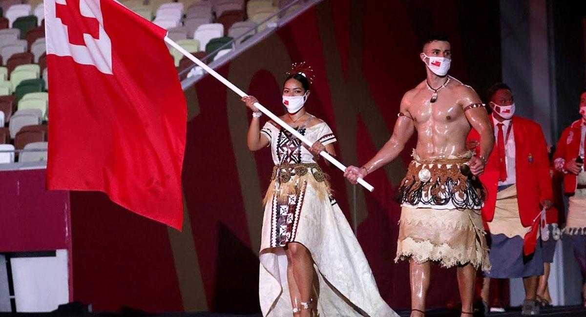 Pita Taufatofua, el atleta de Tonga que causó furor en la inauguración. Foto: Instagram @pita_tofua
