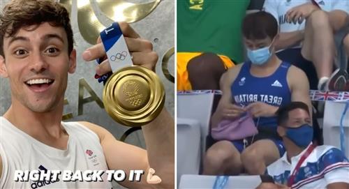 Tokio 2020: Deportista ganó medalla de oro y le teje una 'ropita'